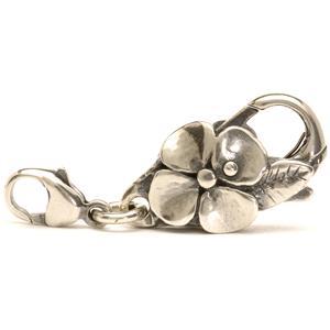 Big flower lock, silver