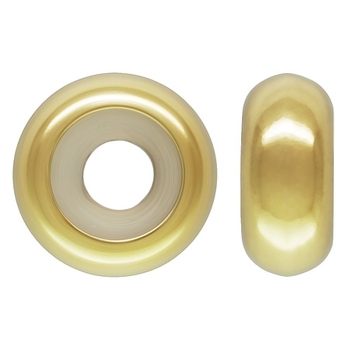 Isabella Charms - Stopper Bead Polished GP 2,7x7mm